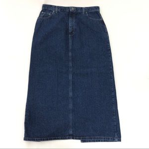 Liz Claiborne Denim Skirt Long Size 16